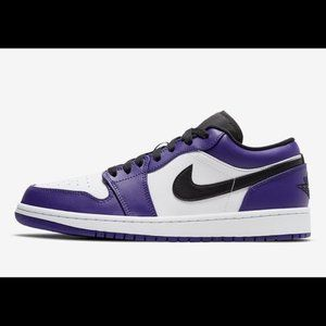 Nike Jordan 1 Low Court Purple 2020 NEW AUTHENTIC